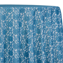 Classic Lace Table Linen in Turquoise 1136