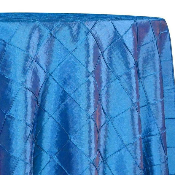 "2"" Pintuck Taffeta Table Linens in Turquoise 014"
