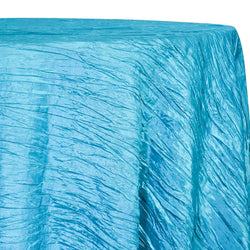 Accordion Taffeta Table Linen in Turquoise 112