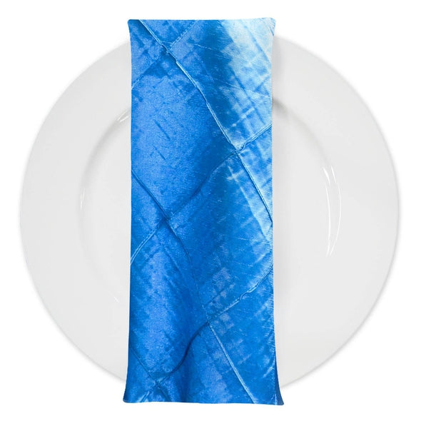 "4"" Pintuck Taffeta Table Napkin in Turquoise 112"