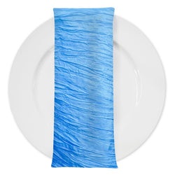 Accordion Taffeta Table Napkin in Turquoise 112