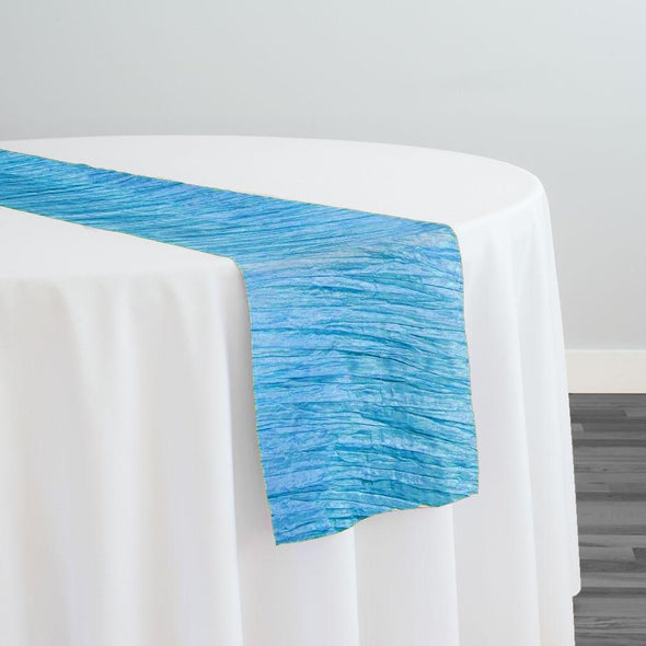 Accordion Taffeta Table Runner in Turquoise 112