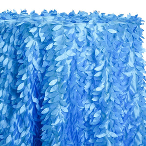 Leaf Hanging Taffeta Table Linen in Turquoise 112