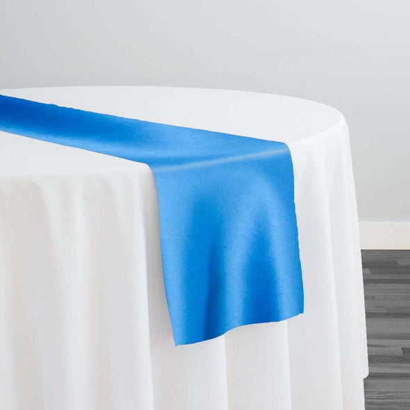 Lamour (Dull) Satin Table Runner in Turquoise 1131