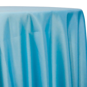 Lamour (Dull) Satin Table Linen in Turquoise 1132