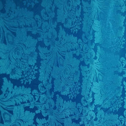 Damask Poly Table Linen in Turquoise 1140