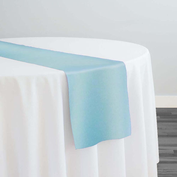 Lamour (Dull) Satin Table Runner in Turquoise 1140
