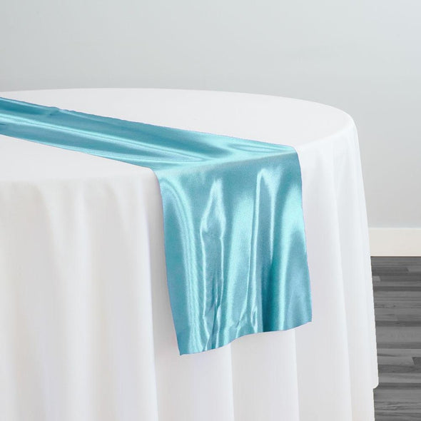 Bridal Satin Table Runner in Turquoise 141