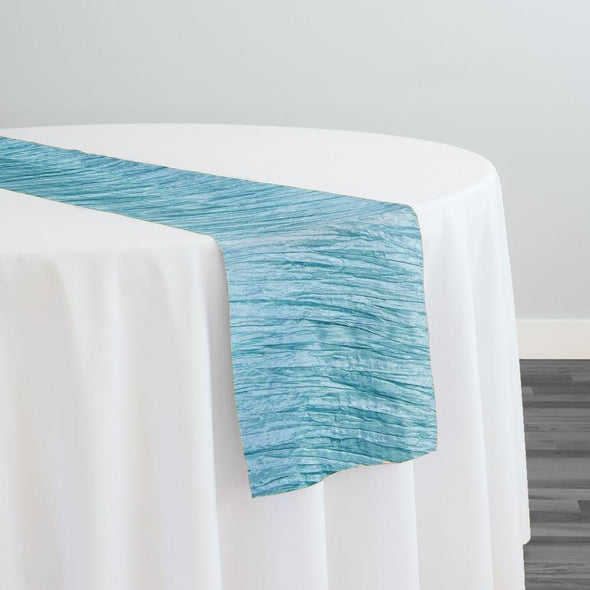 Accordion Taffeta Table Runner in Turquoise 14