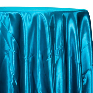 Bridal Satin Table Linen in Turquoise 31
