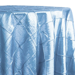 "4"" Pintuck Taffeta Table Linen in Turquoise Light"