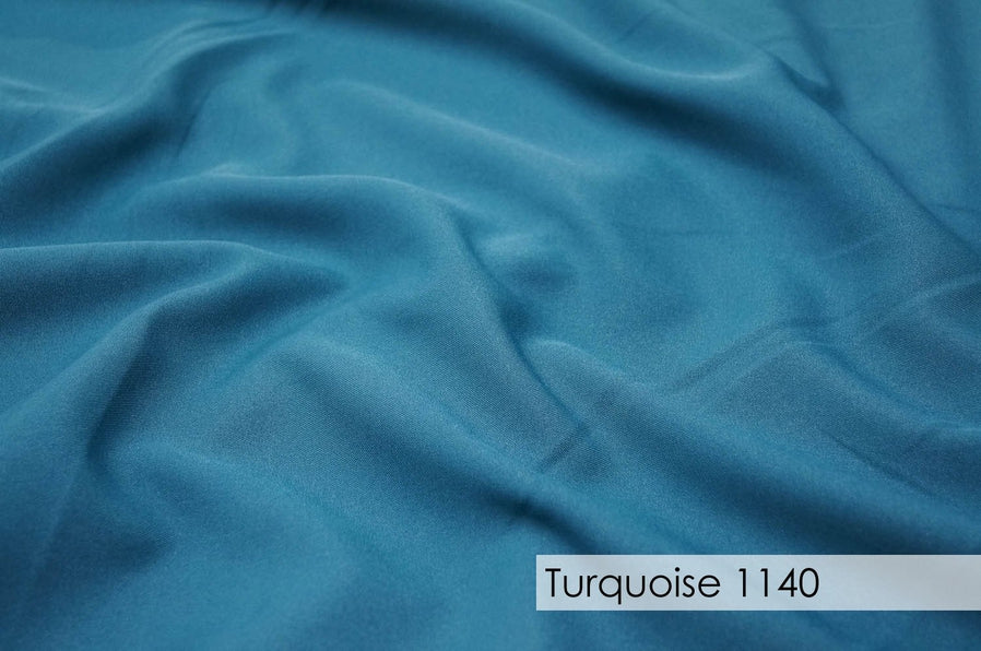 "49pcs - Polyester Poplin - 8""x108"" Sash w/ Slanted Ends - Turquoise 1140"