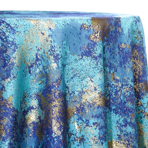 Cascade Jacquard Table Linen in Turquoise