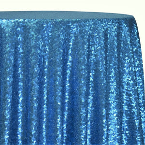Glitz Sequins Table Linen in Turquoise