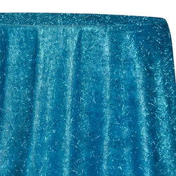 String Metallic Table Linen in Turquoise