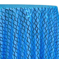 Vortex Sequins Table Linen in Turquoise
