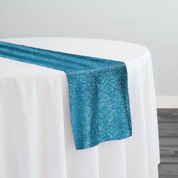 Confetti Metallic Table Runner in Turquoise