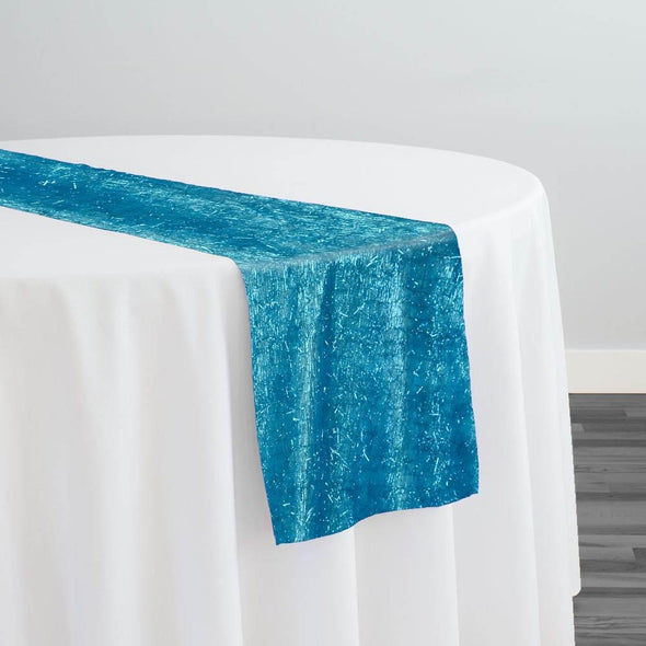 String Metallic Table Runner in Turquoise
