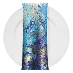 Cascade Jacquard Table Napkin in Turquoise