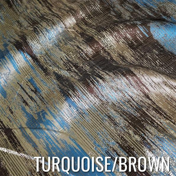TURQUOISE / BROWN