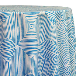 Modena (Poly Print) Table Linen in Turquoise
