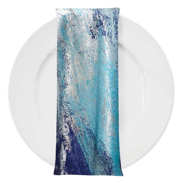 Element Jacquard Table Napkins in Turquoise