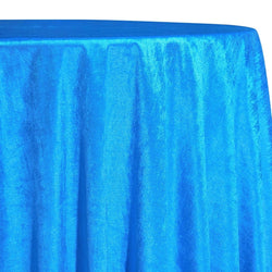 Lush Velvet Table Linen in Turquoise