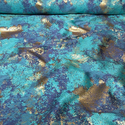 Cascade Jacquard Table Runner in Turquoise