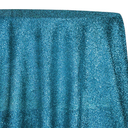 Confetti Metallic Table Linen in Turquoise