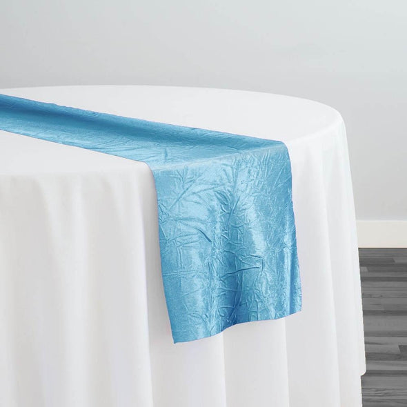Crush Satin (Bichon) Table Runner in Turquoise 141