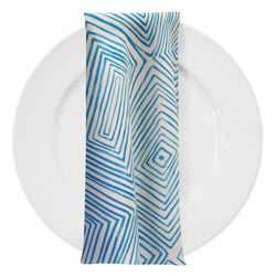 Modena (Poly Print) Table Napkin in Turquoise