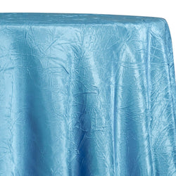 Crush Satin (Bichon) Table Linen in Turquoise 141