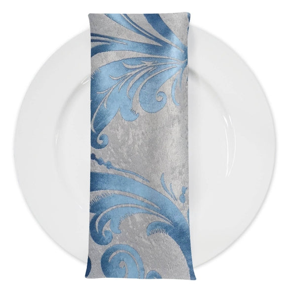 Regal Jacquard (Double-Sided) Table Napkin in Turquoise
