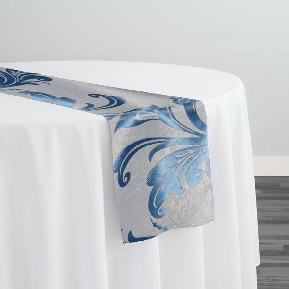 Regal Jacquard (Reversible) Table Runner in Turquoise