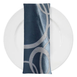 Cirque Jacquard (Double-Sided) Table Napkin in Turquoise