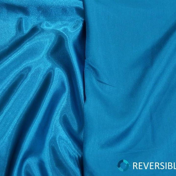 Shantung Satin Table Runner in Turquoise