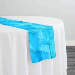 Belly Button (Pinwheel) Table Runner in Turquoise