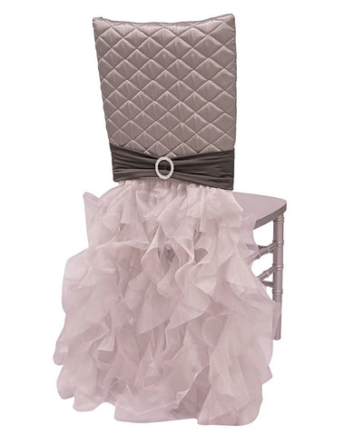 Diamond Tufted Chair Back Tutu - Silver