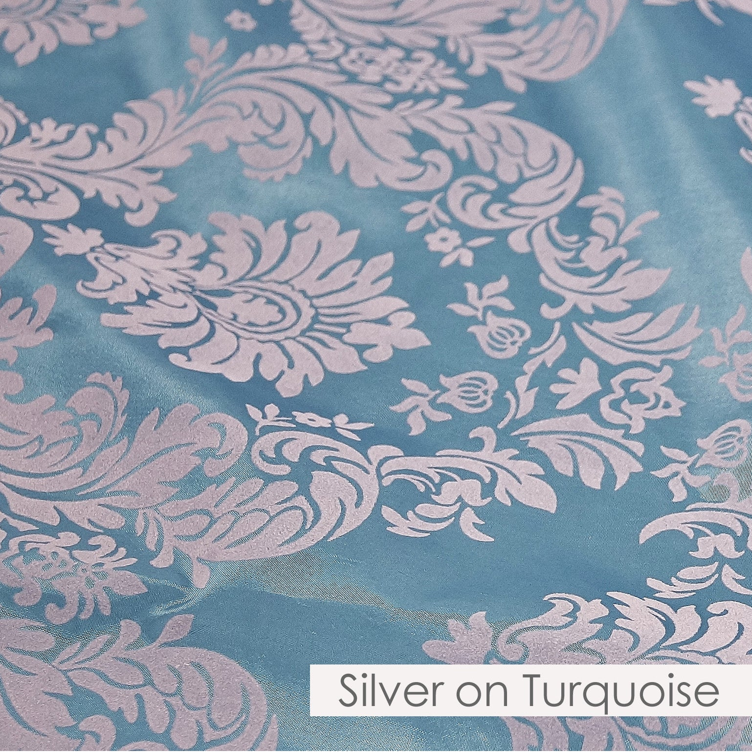 SILVER ON TURQUOISE