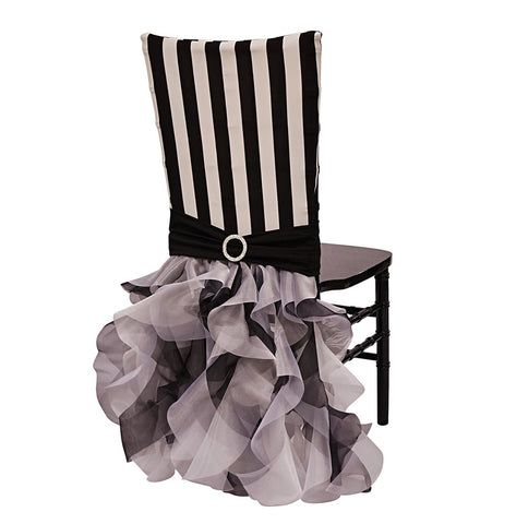 Stripe Chair Back Tutu Black/White