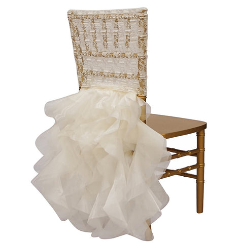 Lace Chair Back Tutu   Ivory