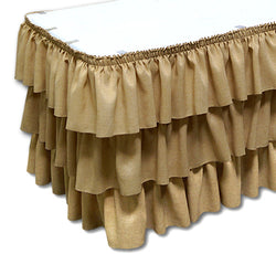 Imitation Burlap - Table Skirt (No Topper)