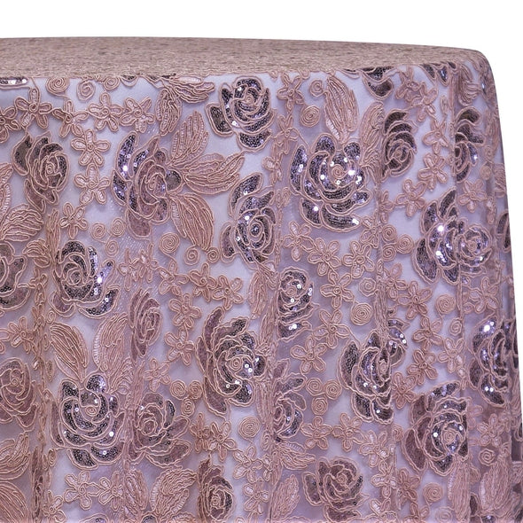 Valentina Lace Table Linen in Blush