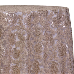 Valentina Lace Table Linen in Champagne