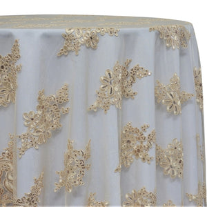 Venetian Lace Table Linen in Ivory