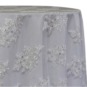 Venetian Lace Table Linen in White