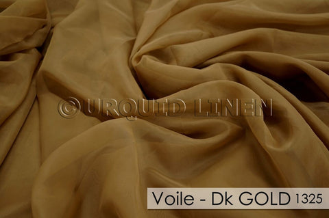 "4pcs - Voile - 10' Tall + 4"" Pocket - Dk Gold 1325"