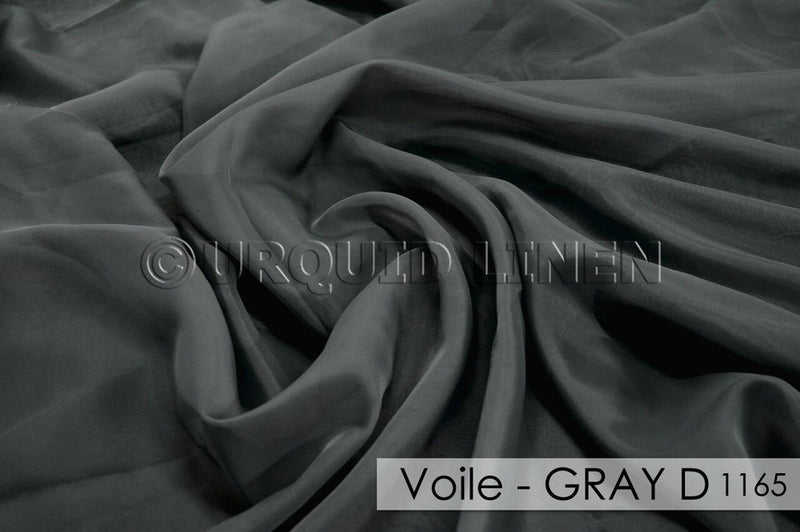"15pcs - Voile - 14' Tall + 4"" Pocket - Grey 665"