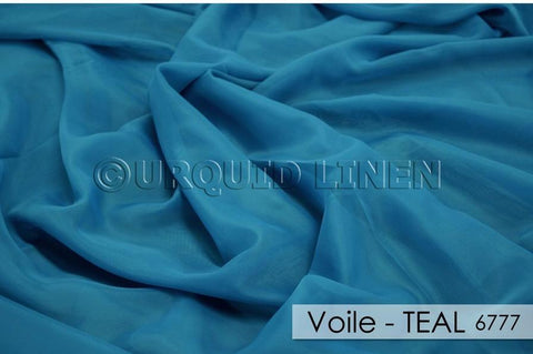 "1pcs - Voile - 12' Tall + 4"" Pocket - Teal #6777"