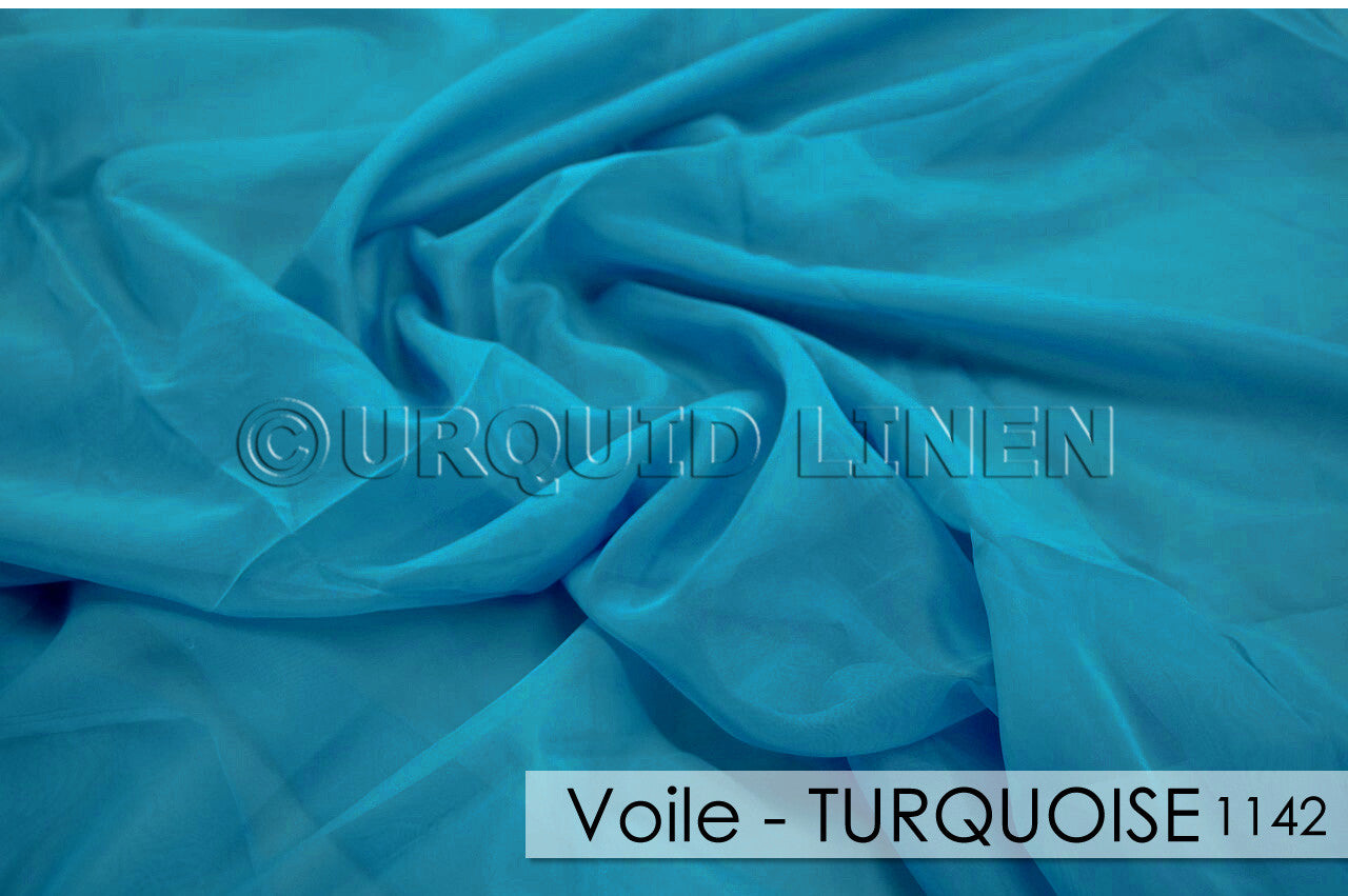 VOILE-TURQUOISE 1142
